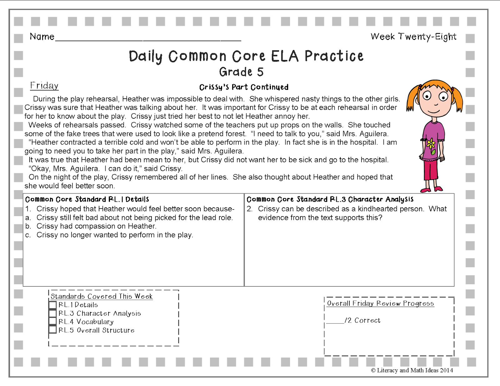 Literacy Amp Math Ideas A Full School Year Of Daily Common