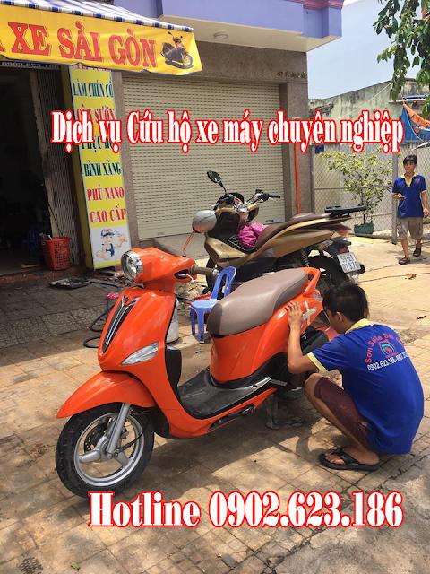 Cứu hộ sửa chữa xe Yamaha Nozza tận nơi tại TpHCM