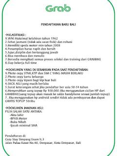 Tempat Pendaftaran Grabbike Bali