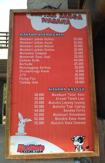 daftar harga wahana di dkandang amazing farm