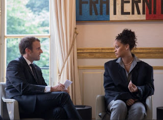 Photos: Rihanna Meets French President, Emmanuel Macron 3