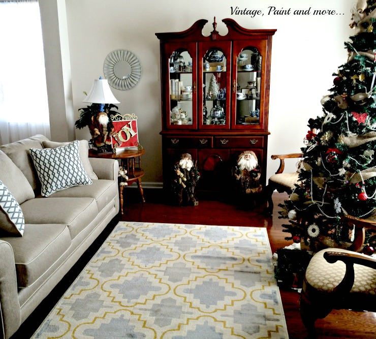 Vintage, Paint and more... Christmas decor in the living room