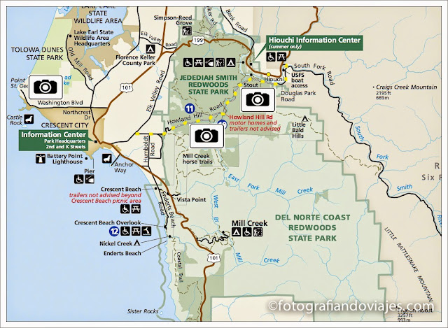 Mapa de Redwood