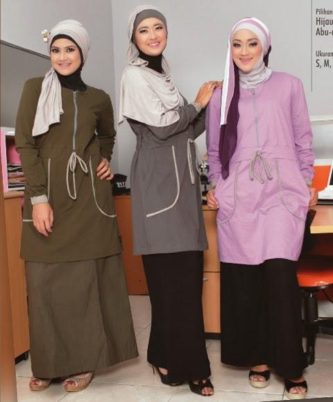 contoh baju kantor muslim cewek gemuk
