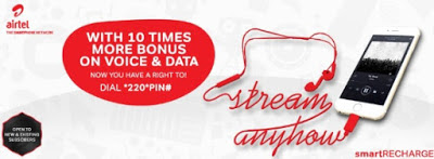 This Airtel New Offer SmartRecharge Gives 10x More Bonus On Data and Calls