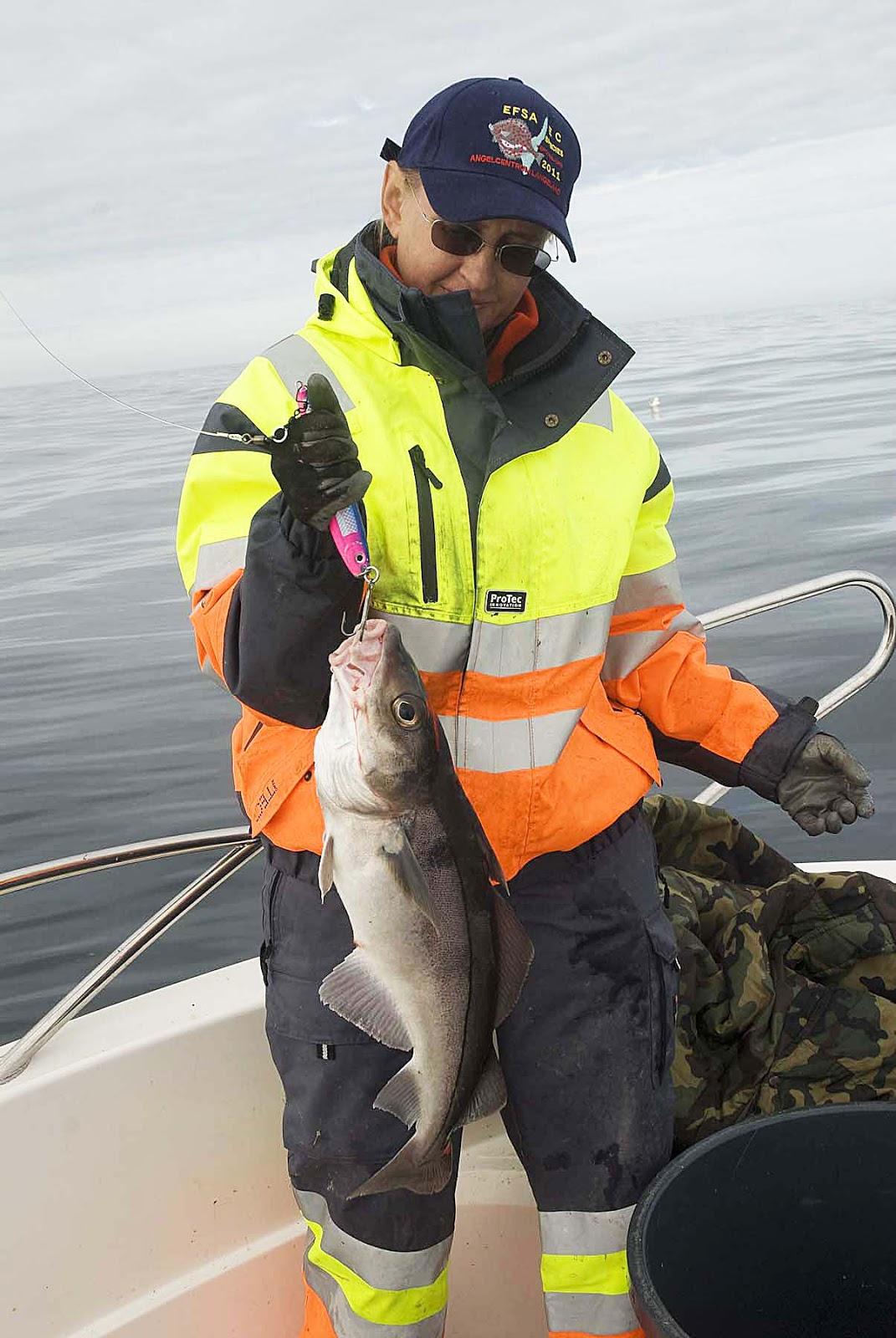 Морская береговая рыбалка в Норвегии