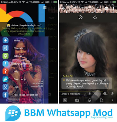Download BBM Whatsapp Mod tema Nabilah JKT48