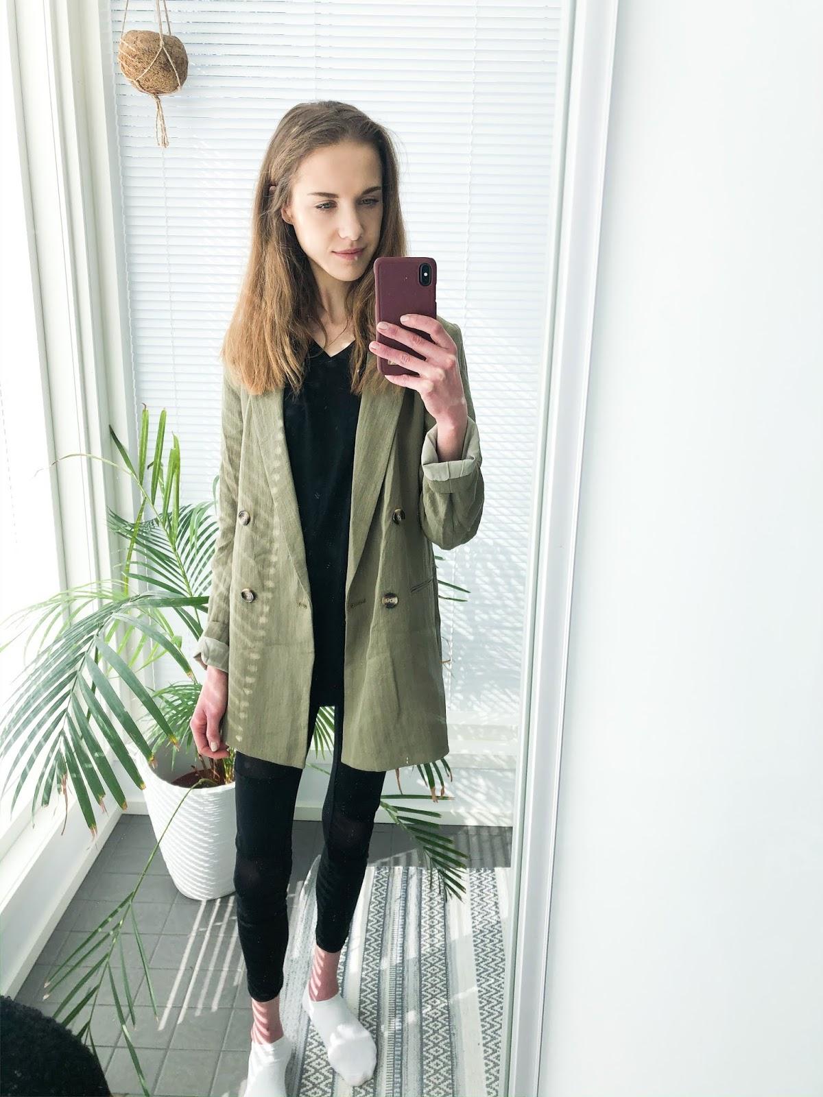Spring fashion 2020: green blazer - Kevätmuoti 2020: vihreä bleiseri