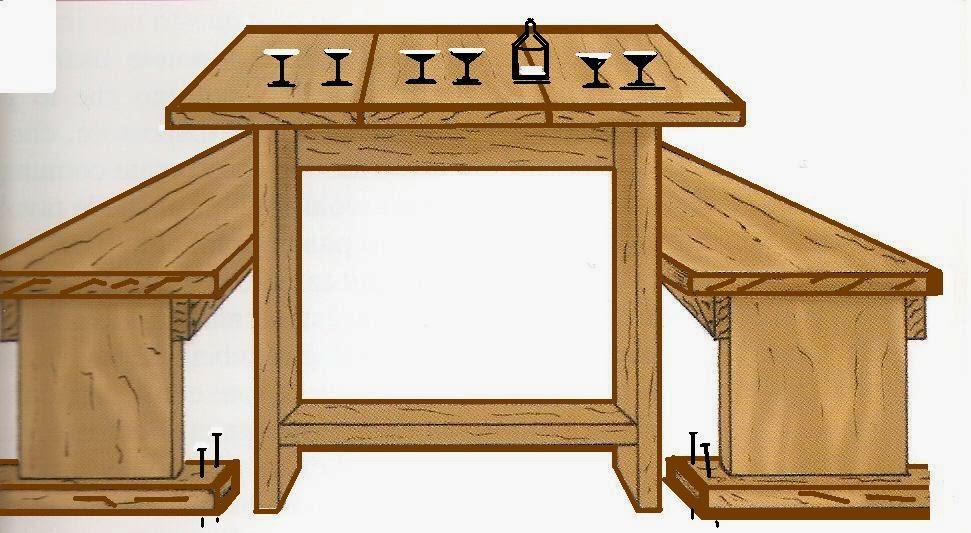 Lavori creativi fai da te an online help come montare una morsa sul banco da lavoro - Costruire tavolo legno rustico ...