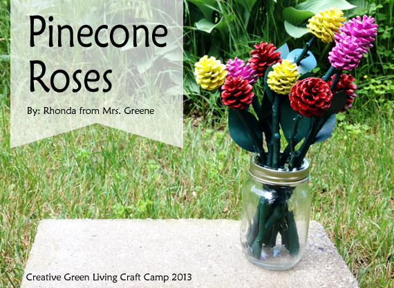 pine cone craft ideas for kids pinecone roses from rhonda at mrs greene creative green 7873