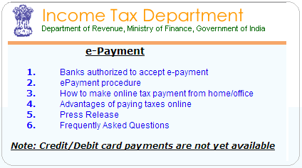 Pay Income Tax through online  - Accounting & Taxation