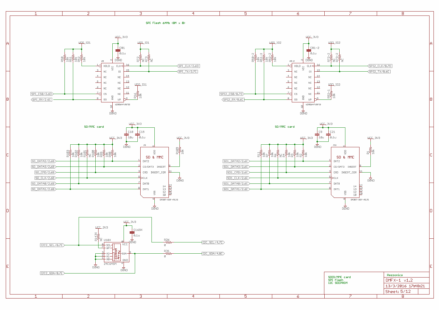Rezzonics Dmfx 1 1 Main Board Schematics And Bom