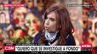 """La ex jefa de Estado se refirió al escándalo y afirmó que """"eso (por López) no es el Estado, nadie puede ir al Estado y agarrar 9 millones de dólares y llevárselos de ningún lado. Eso hay que investigar a los empresarios""""."""