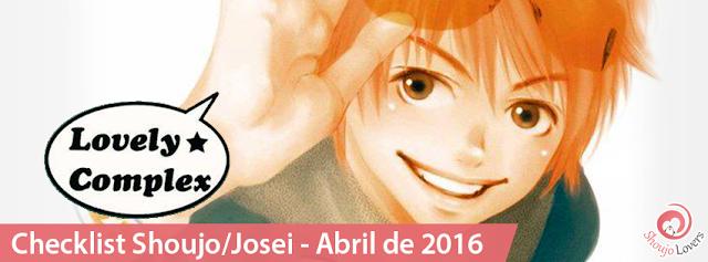 Checklist Shoujo/Josei - Abril de 2016