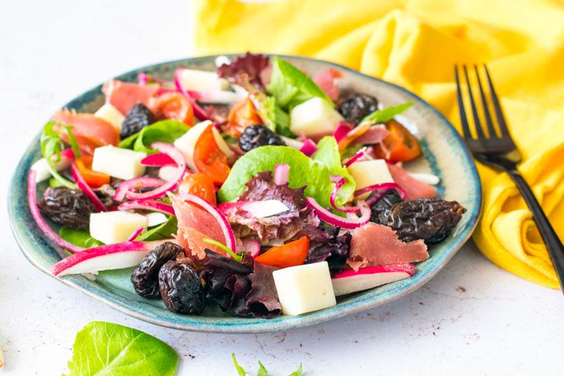 recette Salade jambon pruneaux