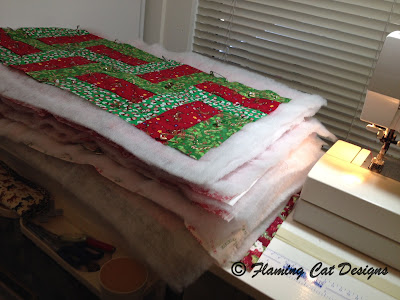 Quilt Top With Batting And Back