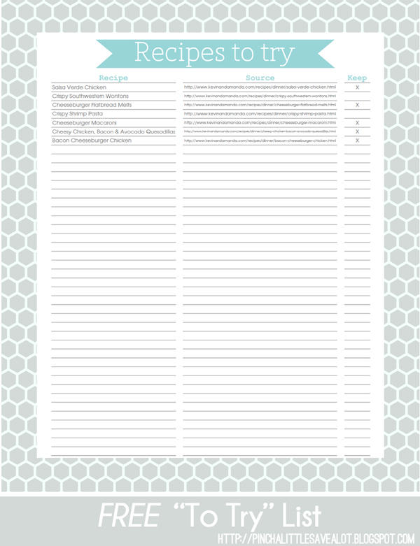 recipes try recipe printable pinch lot save cookbook pinchalittlesavealot printables