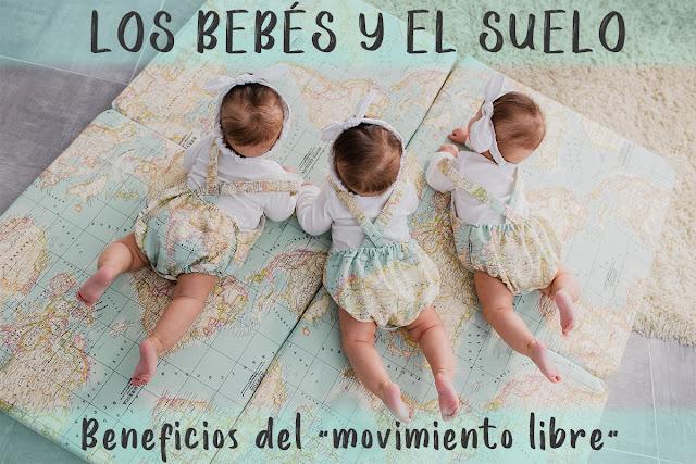 los beneficios del movimiento libre para los bebés, los bebés y el suelo, colchoneta de juegos mapamundi bebé blog mimuselina