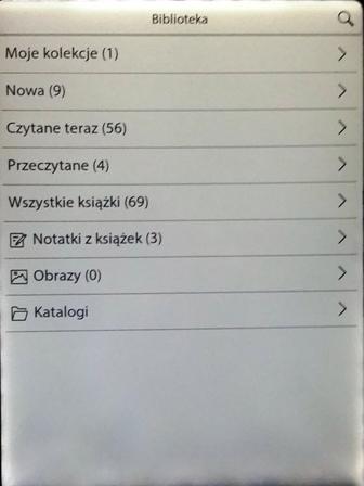 Cybook  Odyssey Frontlight HD - biblioteka po aktualizacji