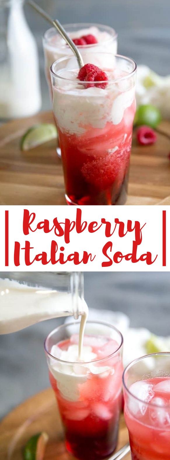 RASPBERRY ITALIAN SODA #drinks #cocktails