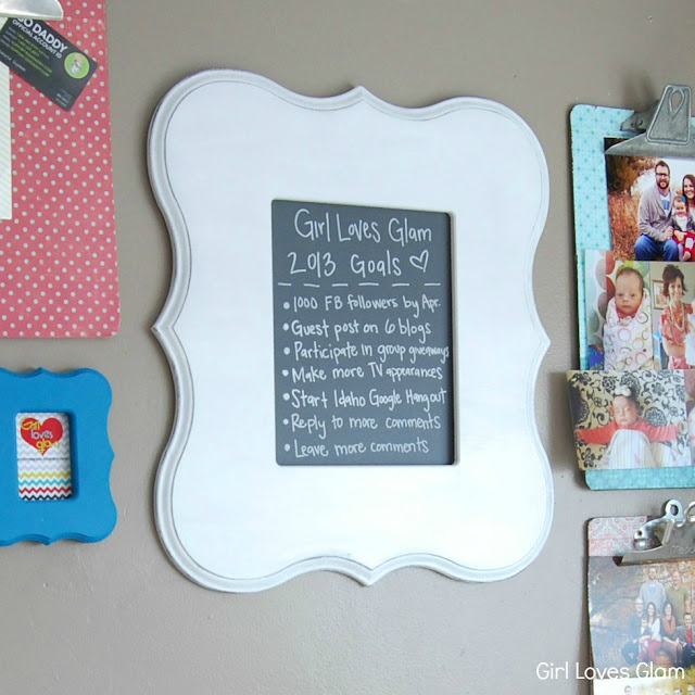diy framed blackboard