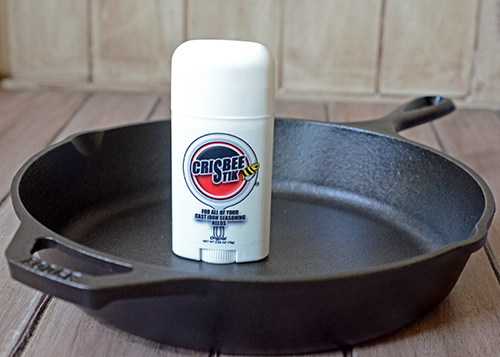 Crisbee Stiks sticks makes cast iron skillet seasoning easy!