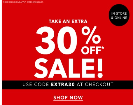 Forever 21 Extra 30% Off Sale Items Promo Code