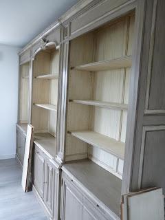 bernard gillardeau antik superbe biblioth que ancienne enti rement relook e avec sa patine en. Black Bedroom Furniture Sets. Home Design Ideas