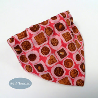 Chocolate Truffles Valentine Candy Dog Bandana