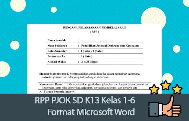 RPP PJOK SD K13