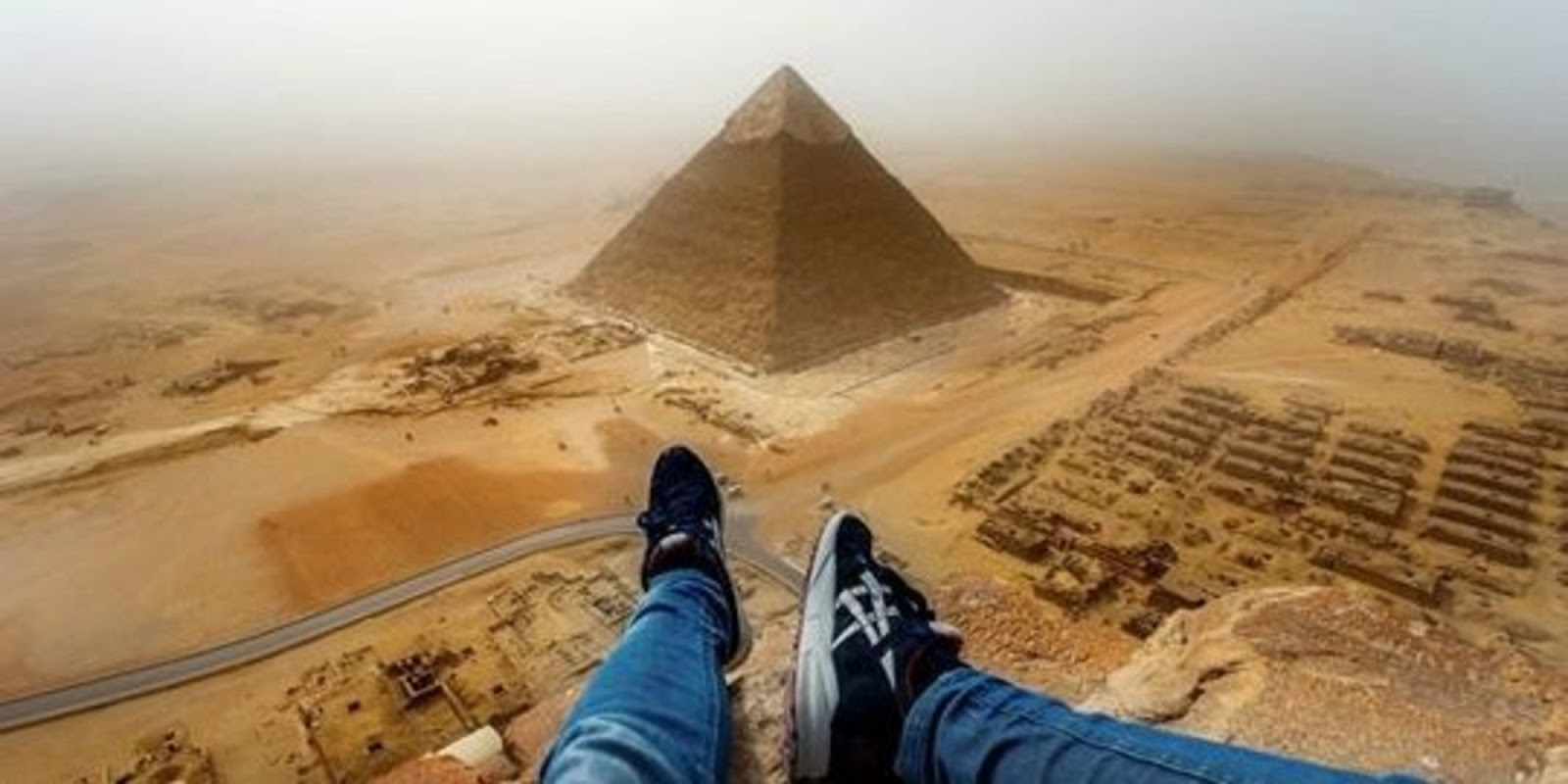 Stunning Video Of Teen Illegally Climbing The Great Pyramid of Giza