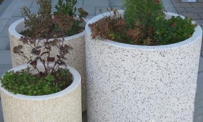 beton virágtartó