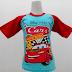 Cars 4 - Kaos Raglan Anak Karakter Cars 4 Biru (KAK-CR-04)