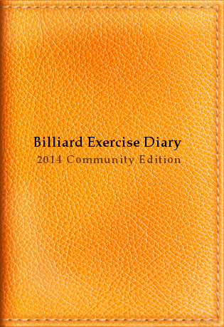 Billiard Exercise Diary 2014, Community Edition, Orange, Billiard Practice Software