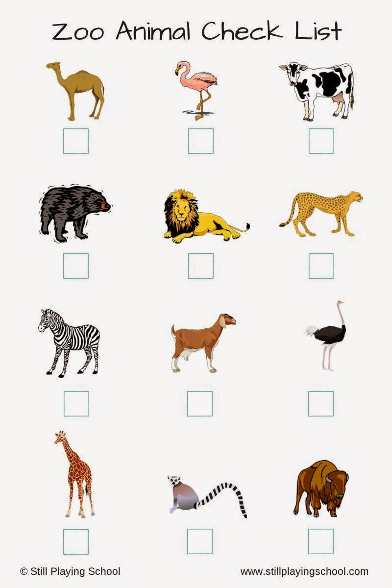 zoo check scavenger animal hunt preschool animals checklist printable print activities wild cape hunts circle name lists kindergarten printables toddlers