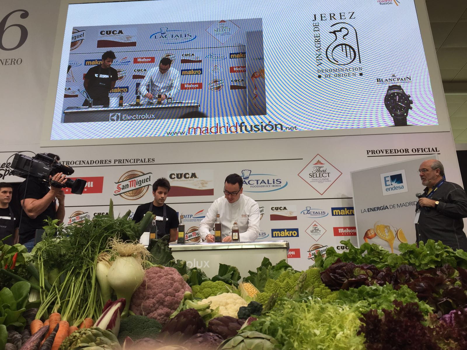 showcooking paco morales madrid fusion vinagre jerez