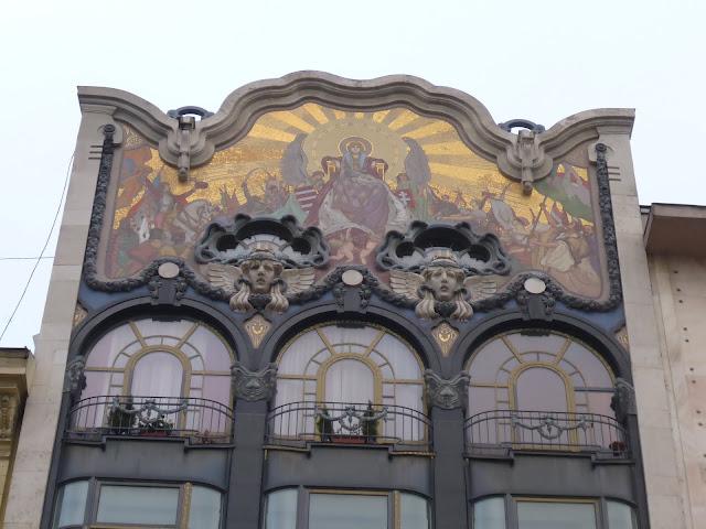 fronton d'un immeuble Torok Bankhaz Budapest Hongrie