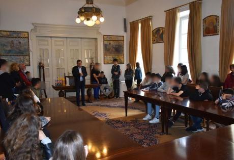 Μαθητές από το Άργος επισκέφθηκαν τον Δήμαρχο Πατρέων Κώστα Πελετίδη