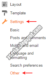 Settings Blogger