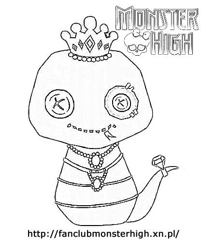 Kolorowanki Monster High Pupil Cleo De Nile