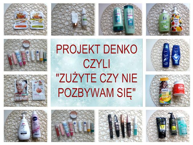 """Projekt denko czyli """"Zużyte czy nie pozbywam się""""  #1 2018 :)"""
