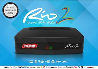 ATUALIZAÇÃO PHANTOM RIO 2 HD V1.45 / RIO TV V1,013 - 12/05/2018