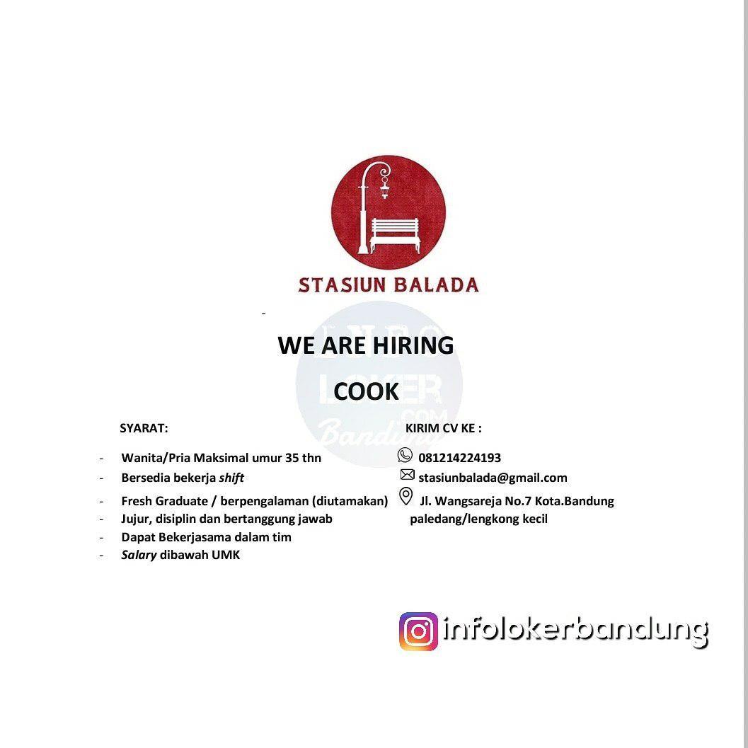 Lowongan Kerja Cook Stasiun Balada Bandung Desember 2018