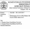 jadwal pretest ppgj 2017 - 2018
