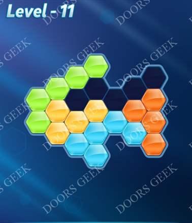 Block! Hexa Puzzle [Intermediate] Level 11 Solution, Cheats, Walkthrough for android, iphone, ipad, ipod
