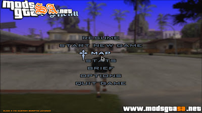 Menu Transparente do GTA V para GTA SA