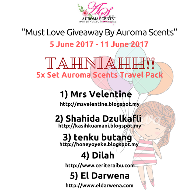 "Menang ""Must Love Giveaway By Auroma Scents"""