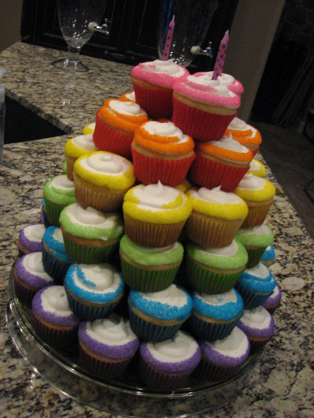 Decadent Designs Sophie S Rainbow Cupcake Cake