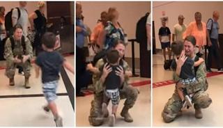 Μάνα στρατιωτικός συναντά τον 2 ετών γιο της μετά από 6 μήνες αποστολής και η στιγμή της επανένωσής τους μας έκανε να κλάψουμε