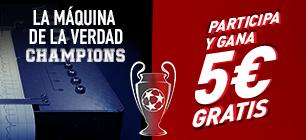 sportium promocion champions 5 euros gratis 13-22 febrero